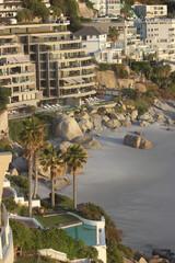 Printed kitchen splashbacks Coast view of the beach from city
