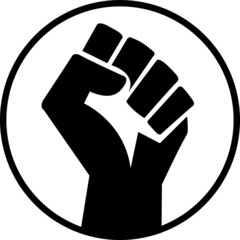vector illustration of a hand . black lives matter. black power