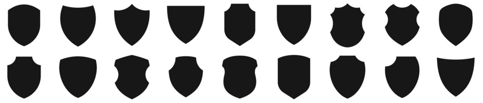 Shield icons set. Protect shield vector