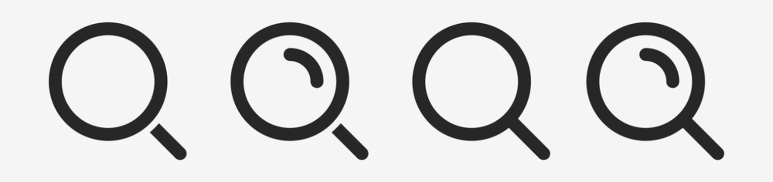 Isolated Magnifying glass icon flat classic design. Search icon. Vector illustration.