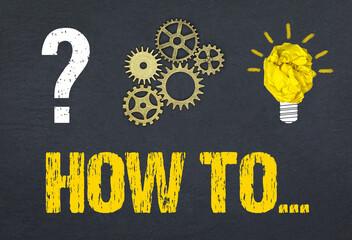 Obraz How to... - fototapety do salonu