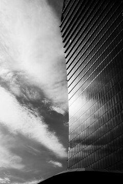 Milan, Italy - May 26, 2020: Libeskind tower at Citylife, Milan