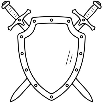 Swords with shield
