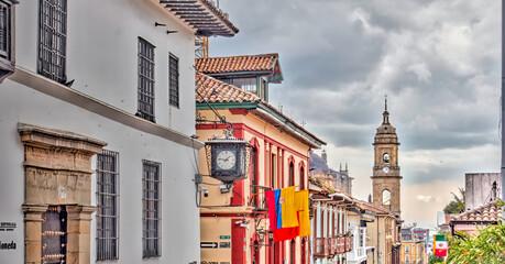 Wall Mural - Bogota, La Candelaria district, HDR Image