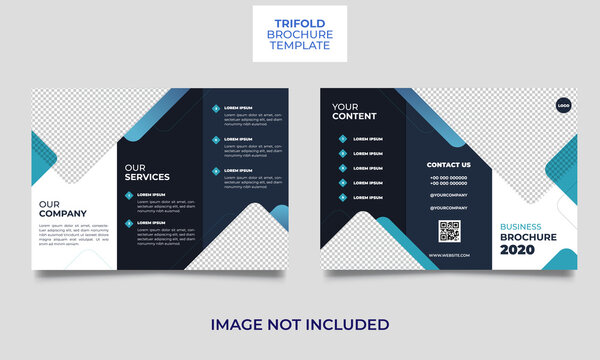 Corporate business abstract tri-fold brochure design template