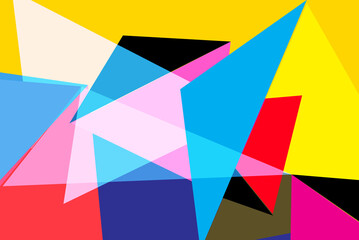 Abstract vector background with different geometric elements