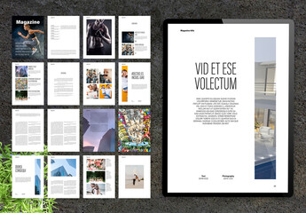 Modern and Minimal Lifestyle Digital Magazine Layout