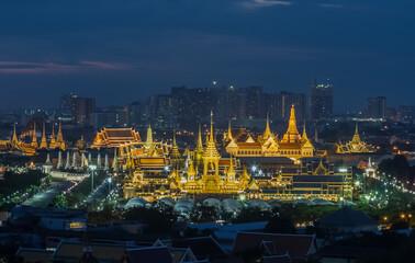 Poster Temple The Royal Crematorium of King Rama IX of Thailand