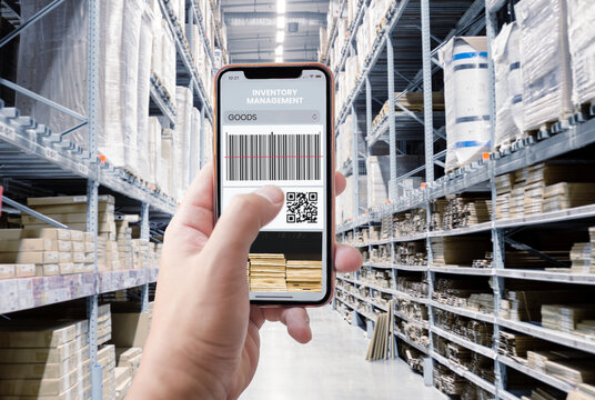 control inventory warehouse with mpbile phone application online