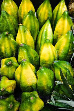 fresh green babacas from south america