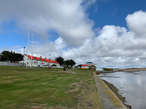 """The town called """"Stanley"""" on the Falkland Islands."""