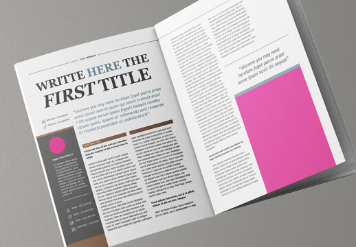 Classy Magazine Layout