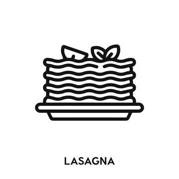 lasagna icon vector. lasagna icon vector symbol illustration. Modern simple vector icon for your design. italian food icon vector.