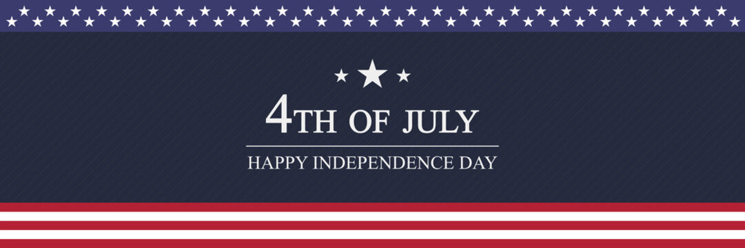 Independence day USA banner template. 4th of July celebration concept