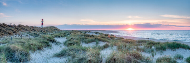 Dune landscape near the northern coast of Sylt, Schleswig-Holstein, Germany