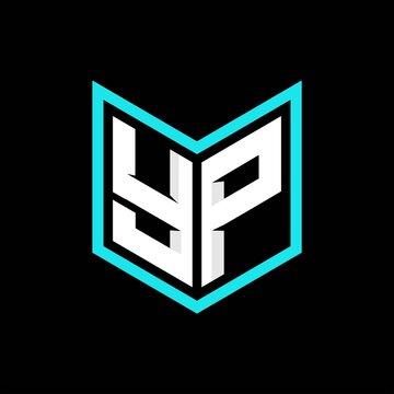 YP initial logo monogram designs modern templates.