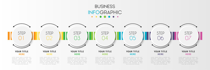 Business infographic element with options, steps, number vector template design