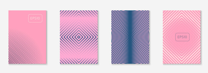 Minimalistic cover template set with gradients Fotomurales