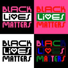 Black Lives Matter Typography Vector Poster