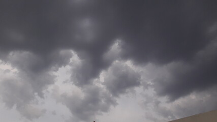 storm clouds time lapse Fotobehang