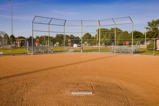 baseball diamond where games should be played but now only has practices