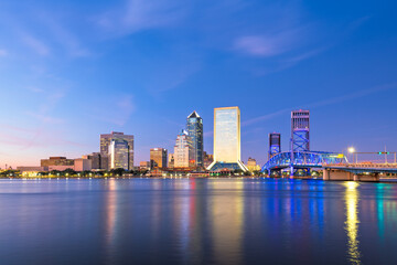 Fototapete - Jacksonville, Florida, USA Skyline