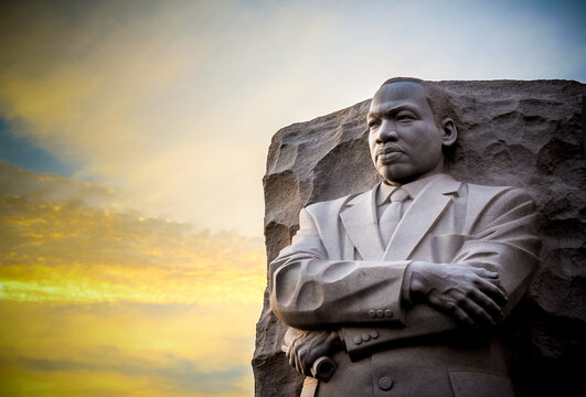 The statue memorial for Martin Luther King Jr. in West Potomac Park, Washington D.C..