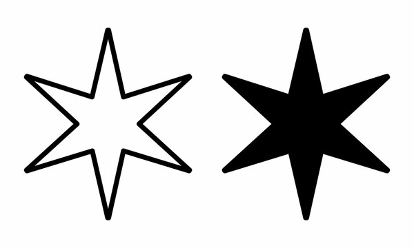 6 point star icons