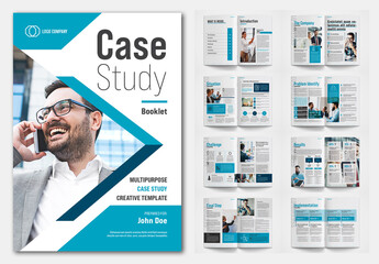 Case Study Layout with Blue Accents