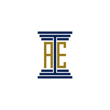 ae logo design vector icon