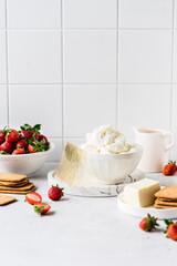 No Bake Strawberry Cheesecake Ingredients