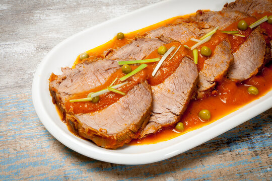 Meat in sauce