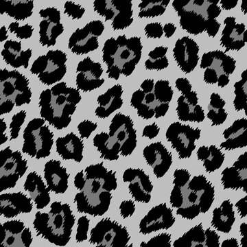 Animal print, snow leopard texture. Endless texture for fabric and paper print, scrapbooking. Grey african safari design.