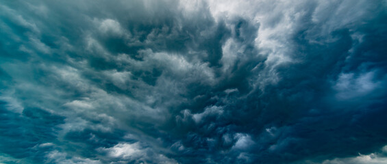 dramatic stormy sky abstract background Fotobehang