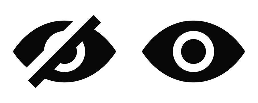 See and unsee eye icon