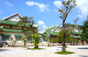 Temple Grounds at Danang (Da Nang)  Linh Ung Temple, A Traditional Buddhist temple. Danang is a popular tourist destination of Asia