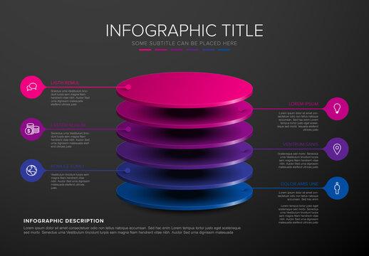 Dark Infographic Template