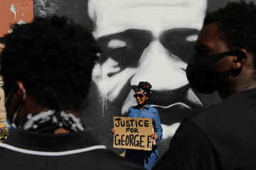 Protests in Minneapolis after the death of George Floyd