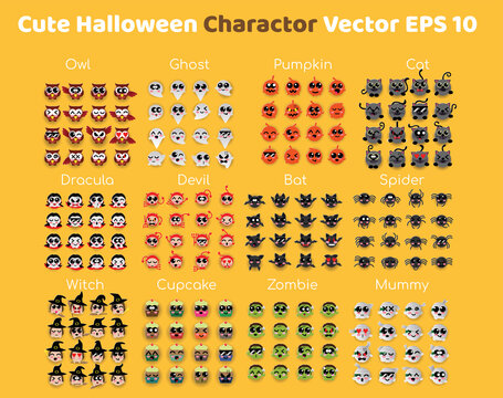 Cute Halloween all Charactor.