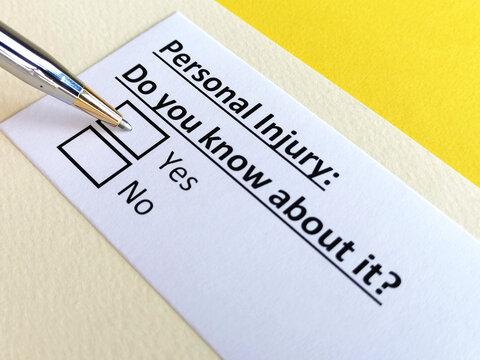 Questionnaire about civil litigation