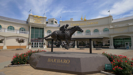 Churchill Downs Horse race track and Kentucky Derby museum in Louisville - LOUISVILLE, USA - JUNE 14, 2019
