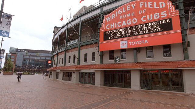 Wrigley Field in Chicago - home of the Chicago Cubs - CHICAGO, ILLINOIS - JUNE 12, 2019