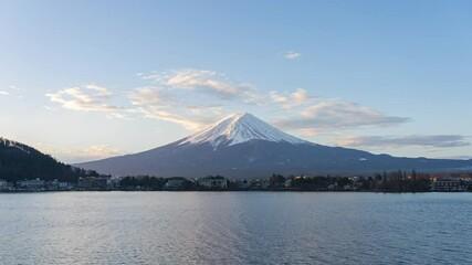 Wall Mural - Kawaguchiko skyline with view of Mount Fuji in Japan