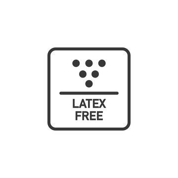 """Latex free"" icon. Vector"