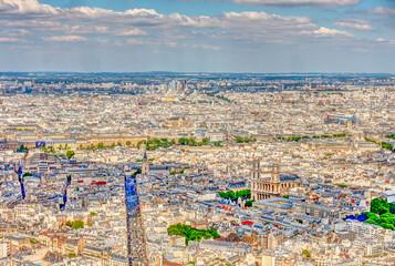 Wall Mural - Panoramic view of Paris, France
