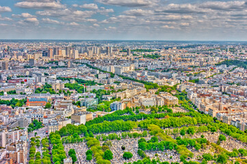 Wall Mural - Panoramic view of Paris, France