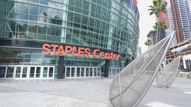 Staples Center Arena at Los Angeles Downtown - LOS ANGELES, USA - MARCH 18, 2019