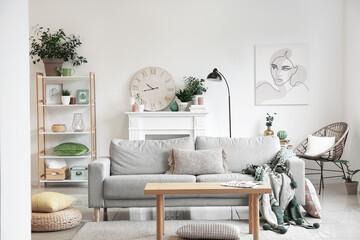 Wall Mural - Interior of beautiful stylish living room