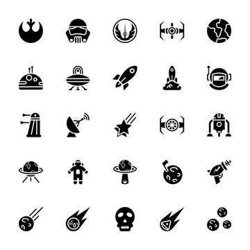 Star wars glyph icon pack