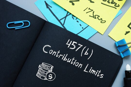 Business concept about 457(b) Contribution Limits with inscription on the sheet.